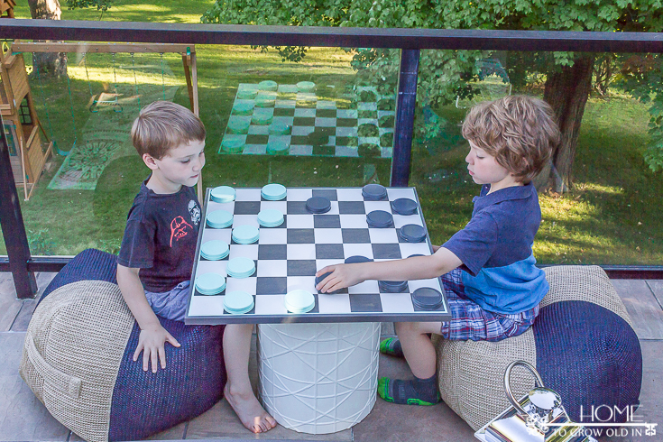 DIY Oversized Checkerboard Game