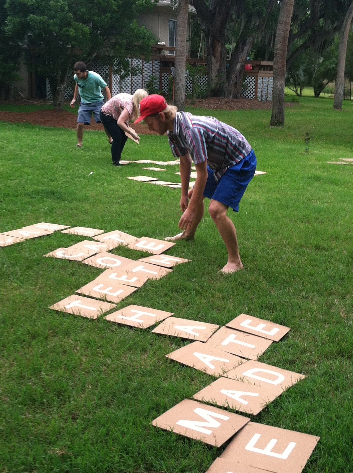 DIY Giant Backyard Scrabble