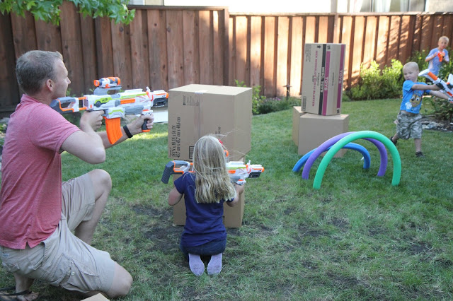 DIY Nerf Gun Family Play Zone