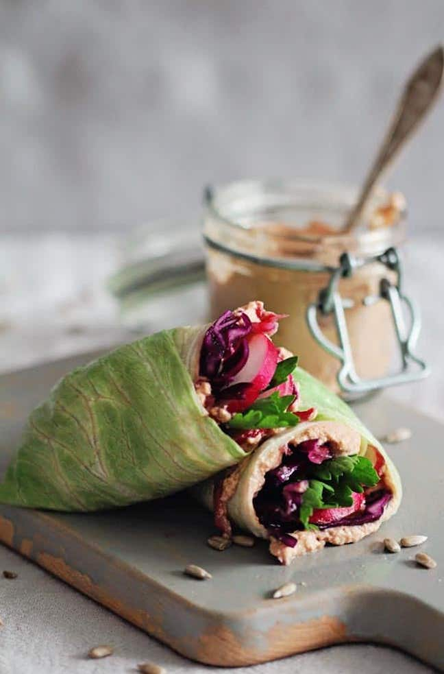 Detox Lunch Wrap with Sunflower Seed Spread