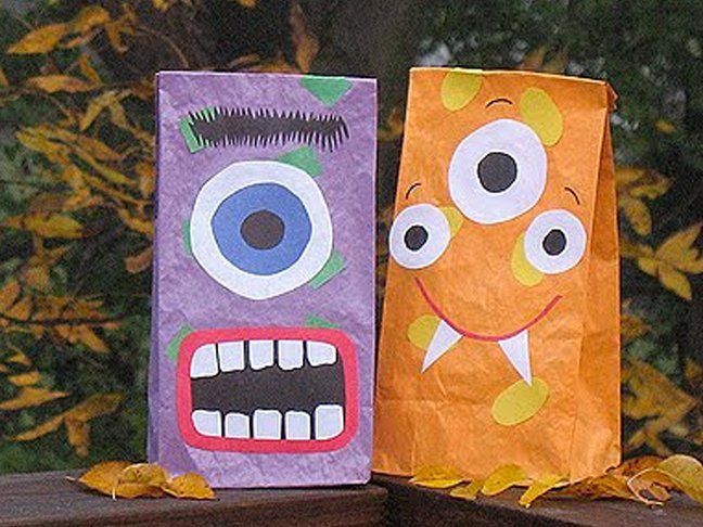 Painted Paper Bags