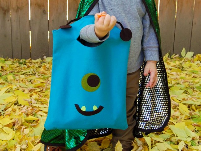 No Sew Monster Tote