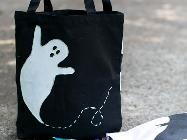 Glow in the Dark Ghost Tote