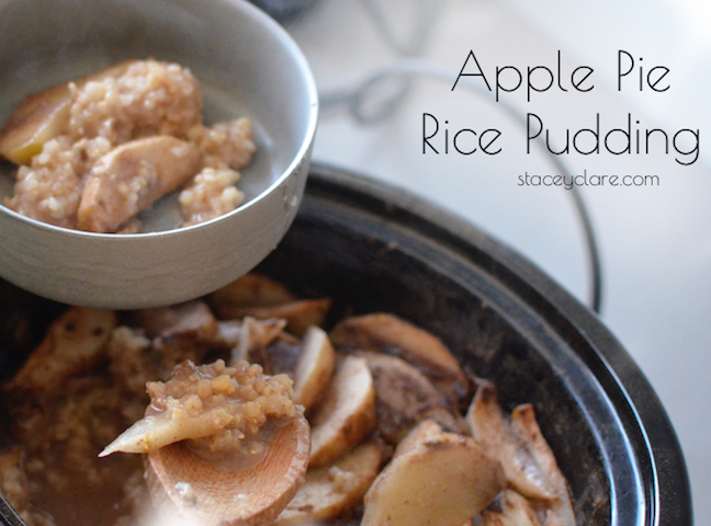 Slow-Cooker Apple Rice Pudding
