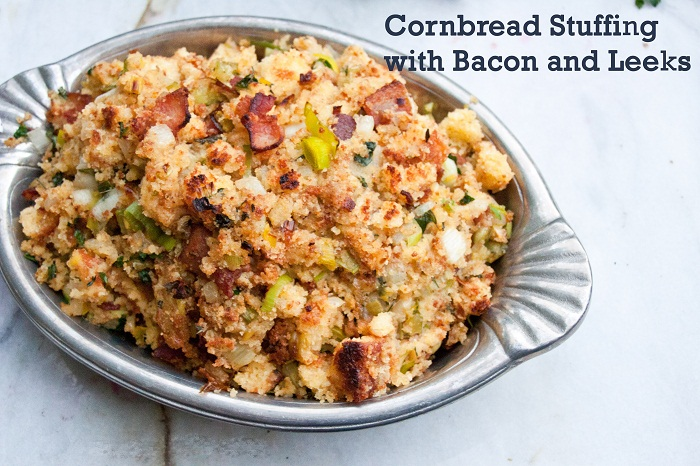 Cornbread Stuffing with Bacon and Leeks