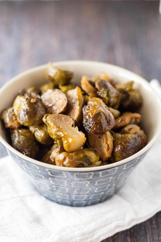 Crock Pot Roasted Brussels Sprouts