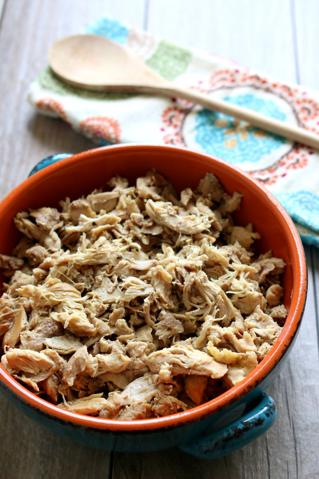 Instant Pot Basic Seasoned Shredded Chicken