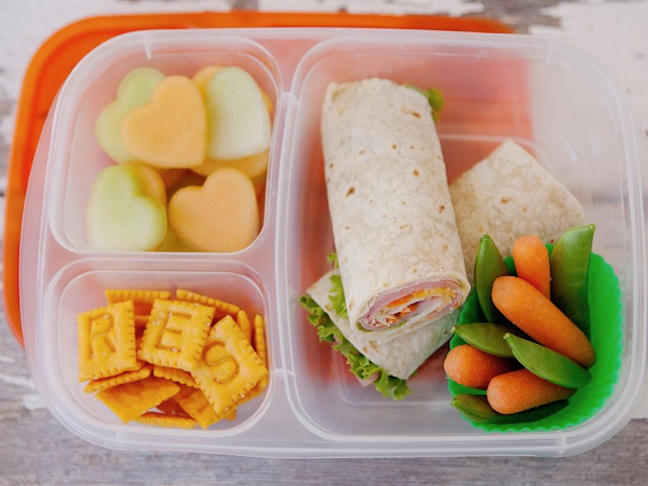 Tortilla Wrap Toddler Lunch With Alphabet Crackers