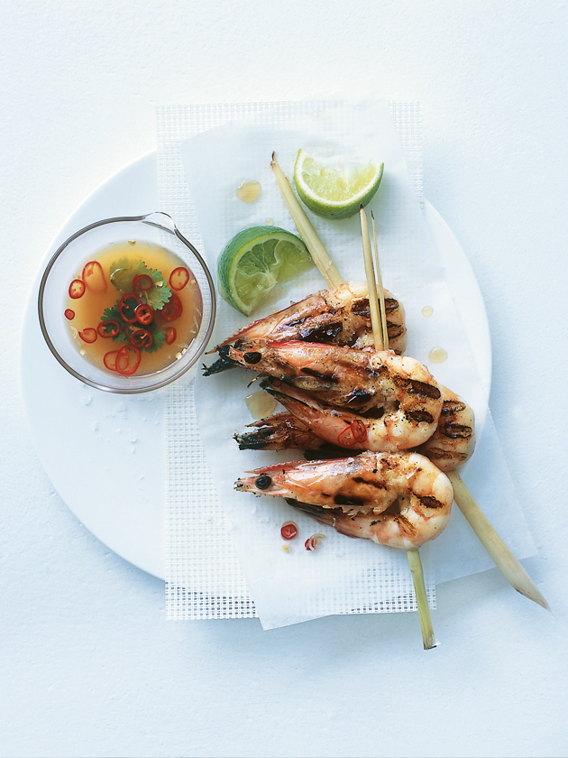 Perfectly cooked prawns