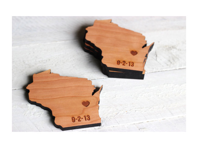 City & State Silhouette Coasters