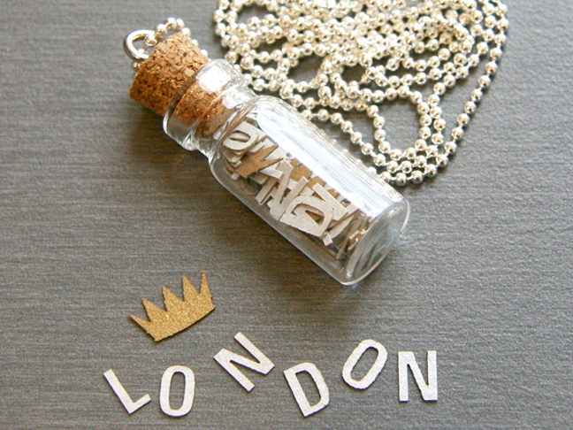 Personalized Message in a Bottle Necklace
