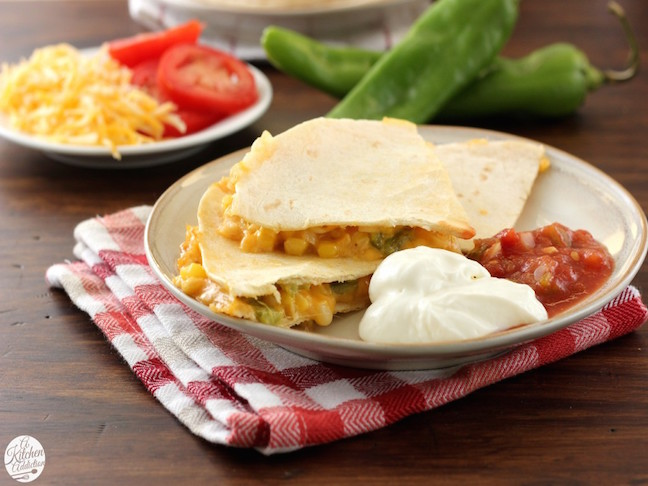 Chilli Sweet Corn Quesadillas