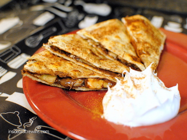 Banana Nutella Quesadillas
