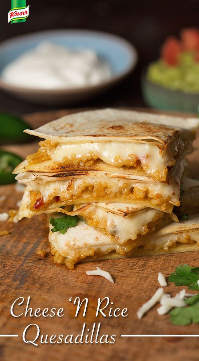Cheese and Rice Quesadillas
