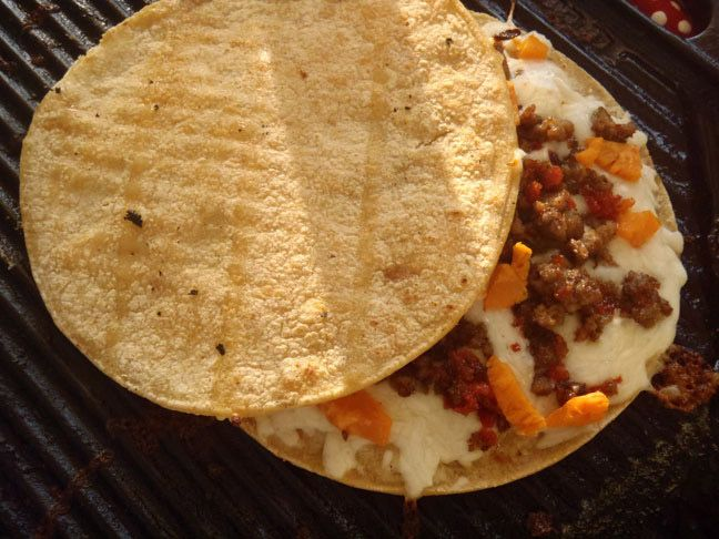 Leftover Quesadillas