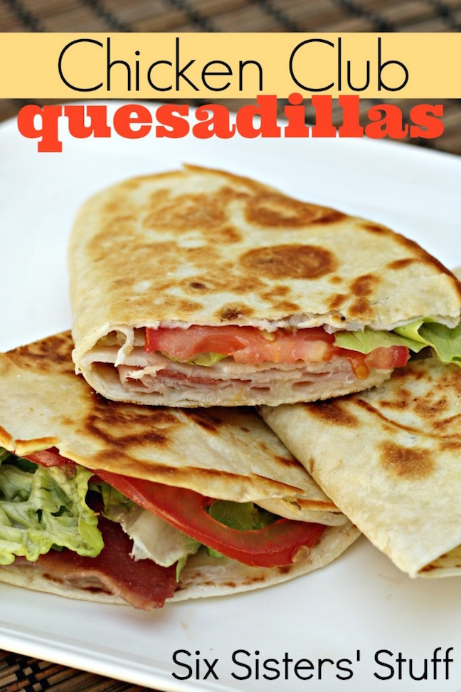 Chicken Club Quesadillas