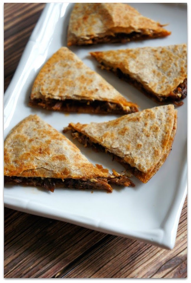 Slow Cooker Sloppy Joe Beef Quesadillas with Cream Cheese