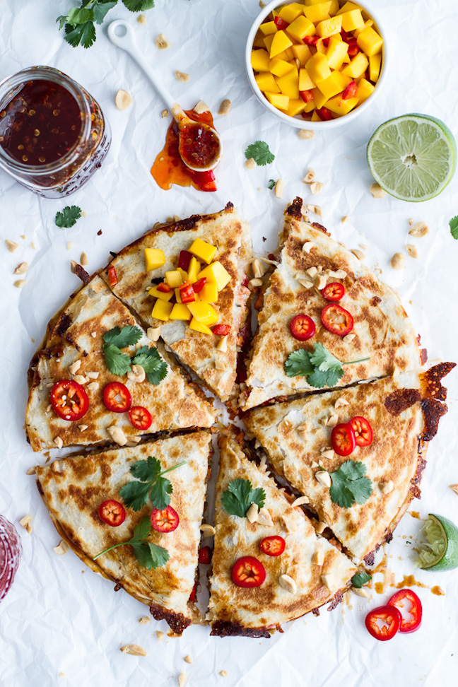 Sweet Thai Chilli Salmon Quesadilla
