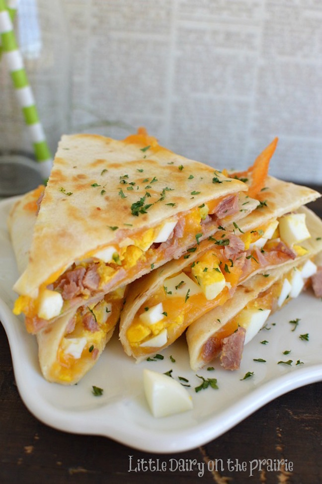 Ham and Cheese Breakfast Quesadilla