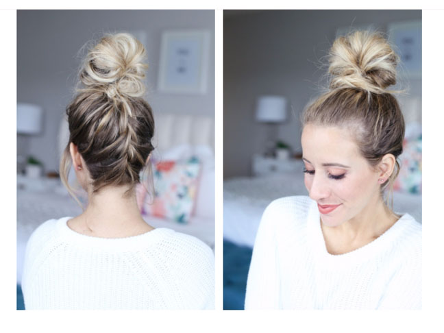 French Braided Top Knot
