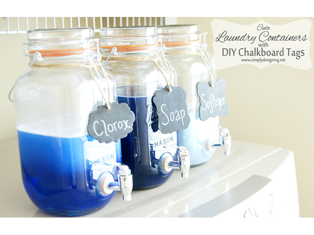 Mason Jar Detergent Dispensers