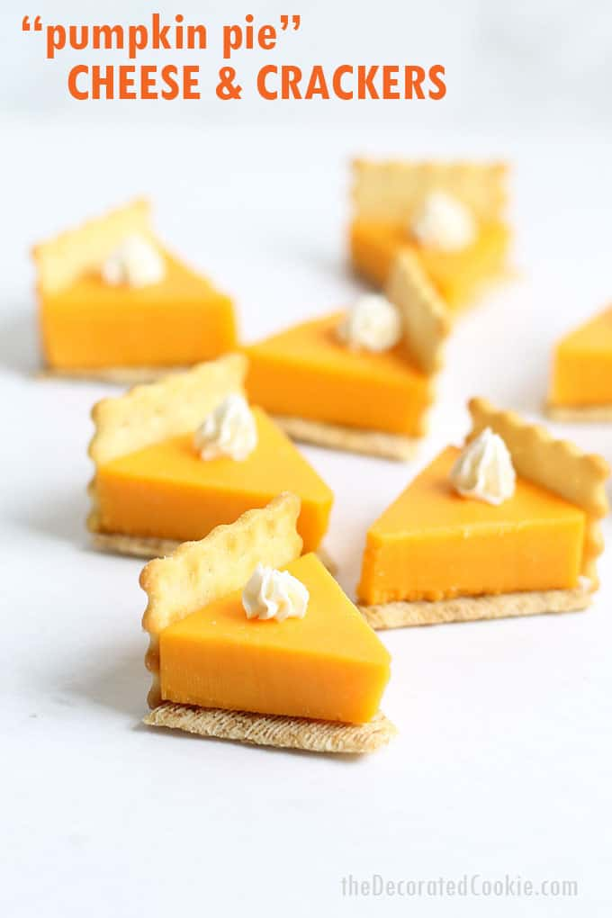 Pumpkin Pie Cheese and Crackers Appetizer