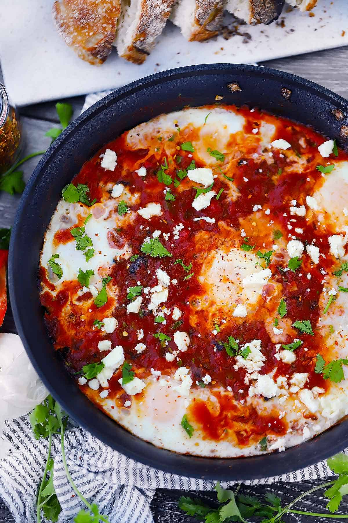 Easy Shakshuka With Feta