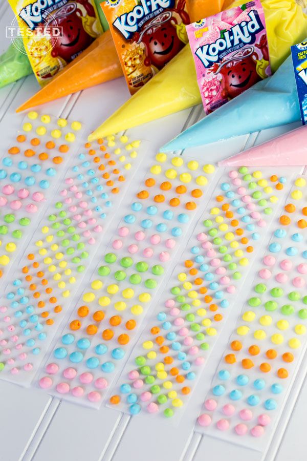 Kool-Aid Candy Dot Strips