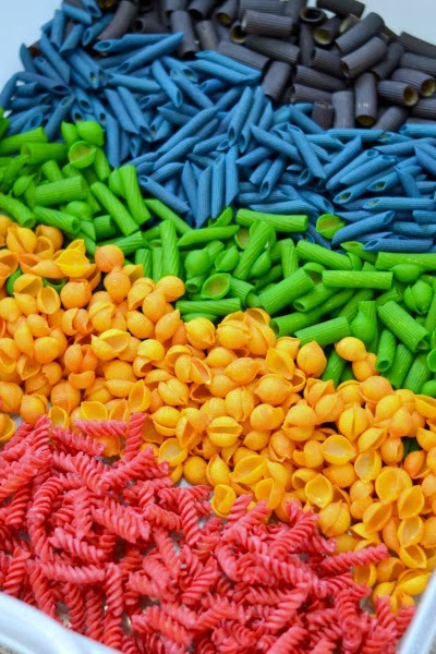 jelly crystals Dyed Pasta