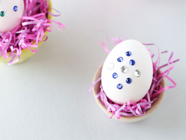 DIY Jeweled Easter Eggs