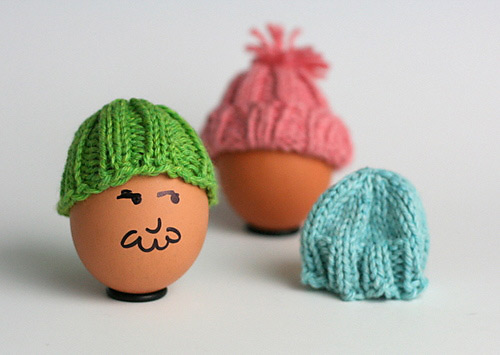 Knitted Easter Egg Hats