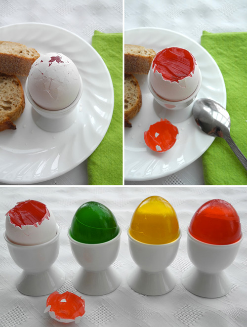 Easter Fools Jello-Filled Eggs