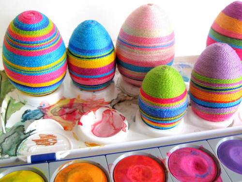 Craft Thread Easter Eggs