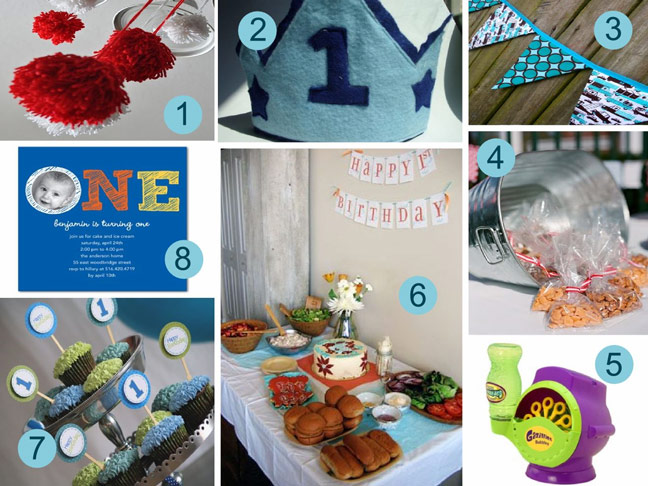boys first bithday party ideas