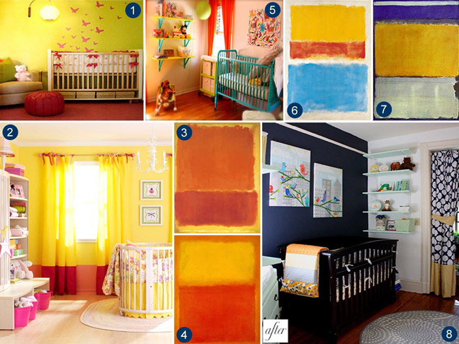 Art and Colour Inspired Kids Bedrooms