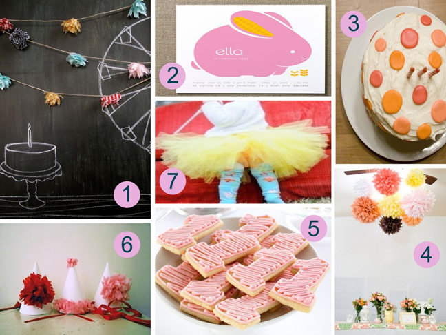 Ideas for daughter's first birthday