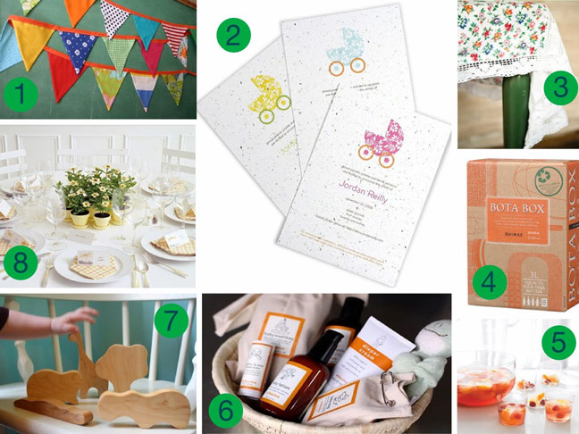 eco frienly baby shower ideas