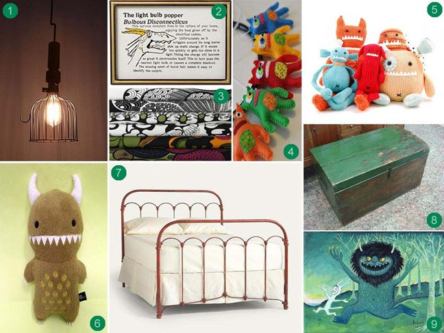 Monstor Themed Kids Bed Room