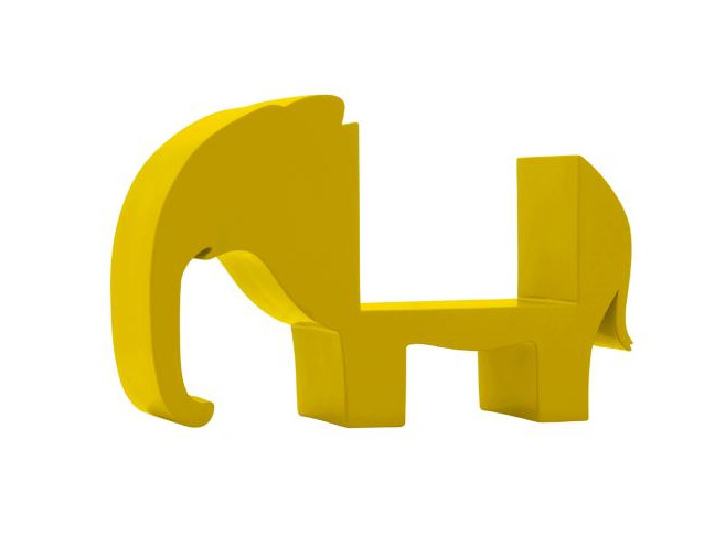 Yellow Elephant Bookend