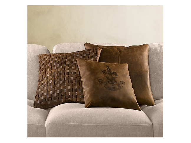 Braided Leather Pillows