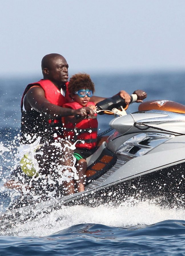Seal, life jacket, goggles, sunglasses, jet ski