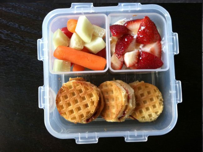 lunch box packed lunch school lunch almond butter honey sandwhich