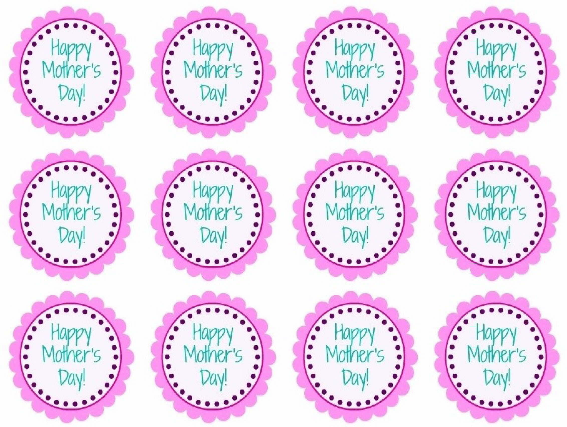 Free Printable Images Of Cupcakes : Free Printable Mother s Day Cupcake Toppers