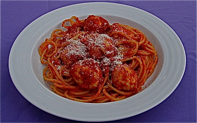 Spaghetti Turkey Meatballs