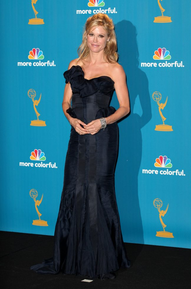Julie Bowen, black dress, black emmy dress, diamond bracelet