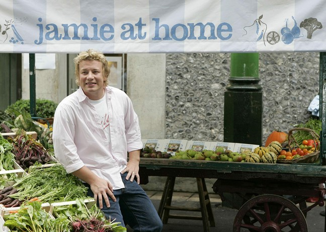 Jamie Oliver, white coat, chef coat, chef jacket,