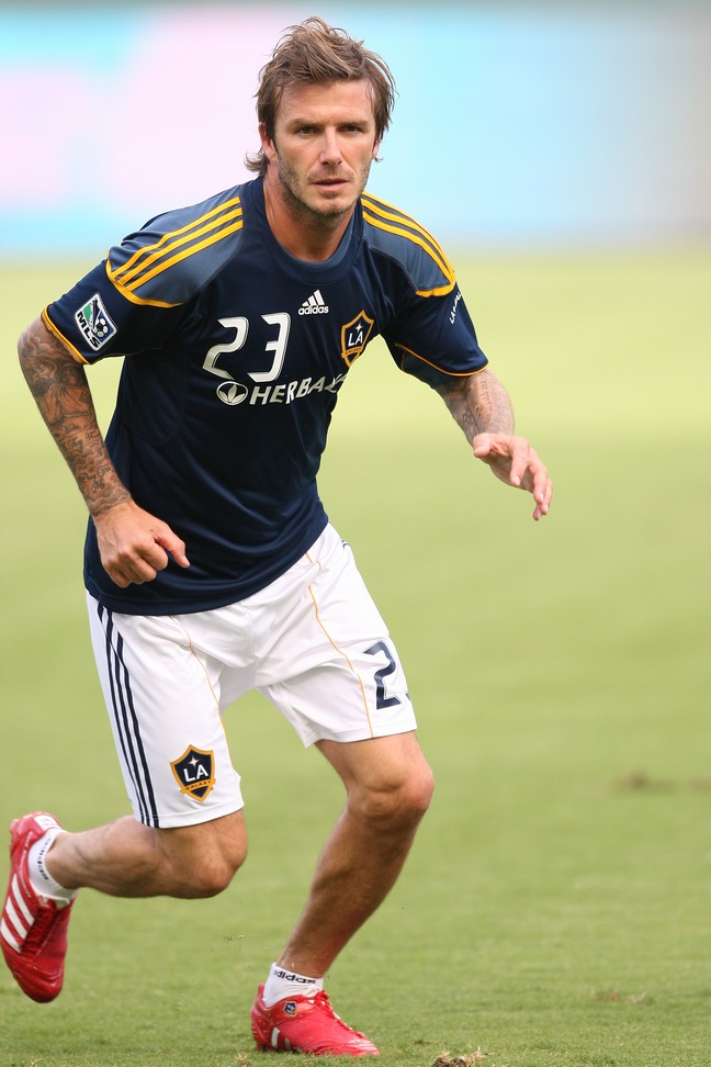 David Beckham, L.A. Galaxy uniform, soccer uniform, football uniform