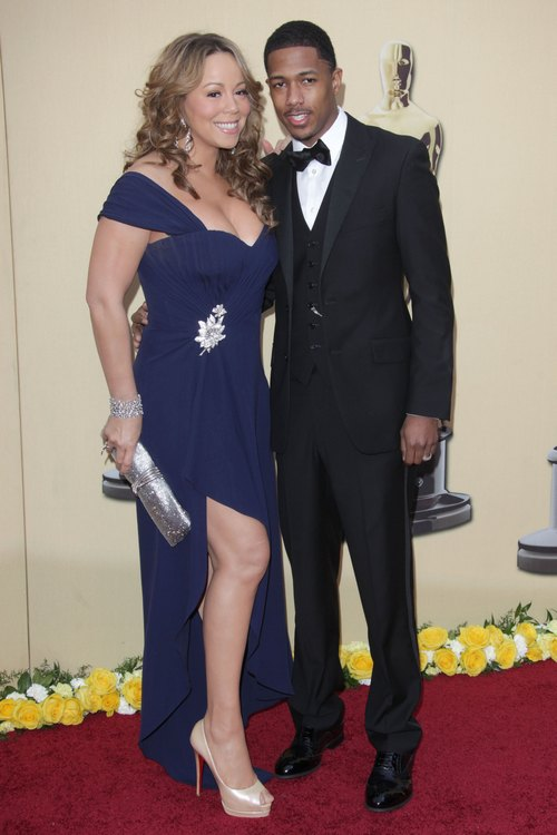 Mariah Carey, blue dress, Nick Cannon, tuxedo